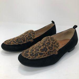 Bare Traps Leopard Black Comfy Loafer Slip On Shoe